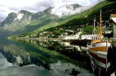 Aurland, Norway. Makes me picture old men in wool sweaters smoking pipes after a long day on the water. Probably terribly stereotypical of me!