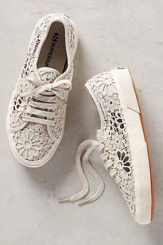 New Anthropologie Superga Lace Sneakers by Superga Size 8 5 Get Them Early Pretty Shoes, Cute Shoes, Me Too Shoes, Shoe Boots, Shoes Heels, Women's Flats, Top Shoes, Lace Sneakers, Leather Sneakers