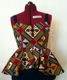 African Clothing: Tani African Print Jumpsuit by NiajoyCreations