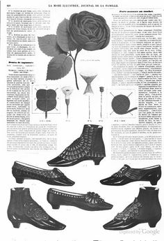 1862, La Mode Illustree. Shoes and boots.
