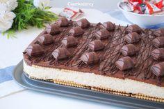 Ciasto Kinder bez pieczenia - idealny deser na letnie dni :) Nutella, Tiramisu, Cheesecake, Food And Drink, Baking, Sweet, Ethnic Recipes, Aga, Cakes