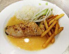 Denné menu Vranov | Kuracia kapsa plnená tvarohom a špenátom, 1/2 ryža, 1/2 hranolky - reštaurácia Hotel Patriot*** #hotel #restaurant