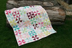 Whimsical Windmills by Fresh Lemons : Faith  What a sweet quilt!  Love the colors/fabrics and the blocks.