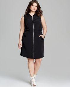 afd62c7db6f52 Calvin Klein Plus Zip Front Pocket Dress Women - Plus - Bloomingdale s
