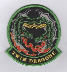 "USAF Patch 459th Flying Training Squadron Morale ""Twin Dragons"" 