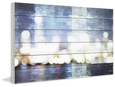 City Scape Painting Print in Blue