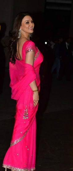 Preity Zinta at Shahid Kapoor and Mira Rajput's wedding reception