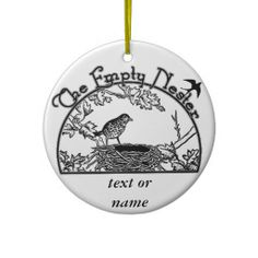 sold ! The Empty Nester Christmas Tree Ornaments  shipping to Bedford Park, IL #zazzle #emptynest #christmasornament #christmas