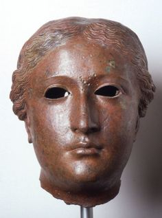 Bronze portrait head of Arsinoë III Philopator. Late 3rd century to early 2nd century BCE. Civic Museum Palazzo Te Mantua