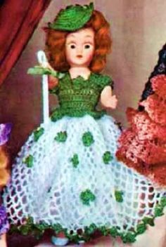 IRISH COLLEEN DOLL – A Vintage 1951 Crochet Pattern « Holiday Adds