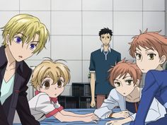 Ouran High School Host Club: The Hosts wake up Kyoya Ouran Highschool Host Club, Ouran Host Club, High School Host Club, I Love Anime, All Anime, Haikyuu, School Clubs, Kaichou Wa Maid Sama, Another Anime