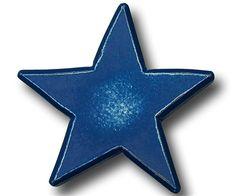 Distressed Blue Star Drawer Pull