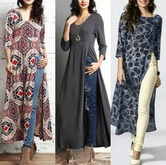 For details / order please dm or Whatsapp on . India Fashion, Ethnic Fashion, Long Kurti With Jeans, Shirt Style Kurti, Casual Formal Dresses, Butterfly Dress, Kurta Designs, Indian Designer Wear, Indian Outfits