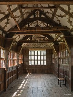 https://flic.kr/p/86oKLv | Little Moreton Hall - Wood, wood and more wood! | The Long Gallery.  View on Black