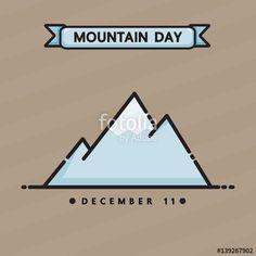 Vector: International mountain day vector cartoon design.