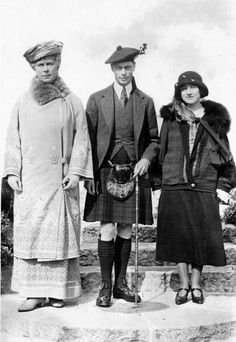 Queen Mary, the Duke and Duchess of York, at Balmoral