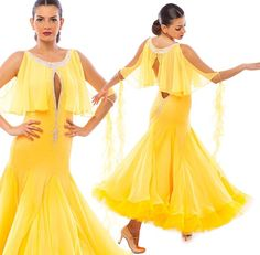 Ballroom dress Amber#dancesport #dancecostume #ballroomdresses #ballroomdesign #dance #yellowgown #couture #diva