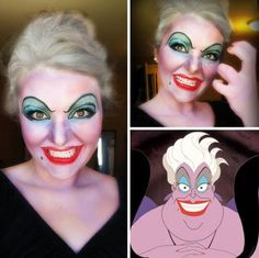 Easy Halloween Makeup - Ursula, The Little Mermaid - CosmopolitanUK