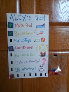 Chore/Daily/Behavior Charts. I like the velcro instead of stickers and having to worry about printing more charts.