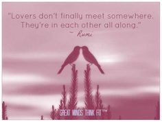 Lovers .. are in each other all along ....