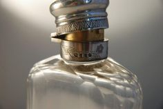 A Silver and Crystal Hip Flask