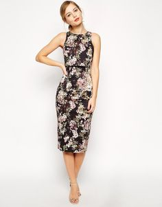 ASOS Blossom Print Crop Top Dress
