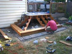 How to build a deck step
