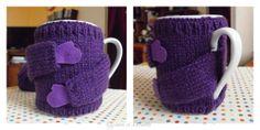 Ce pull pour mug a été tricoter pour faire un tuto .En espérant que celui-ci est compréhensible ! Le tricot c'est pas ma tasse de thé !