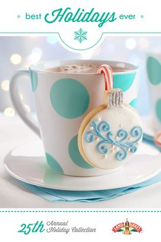 These charming cookies actually hang from your cocoa cup!