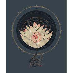 Lotus art print by Hector Mansilla
