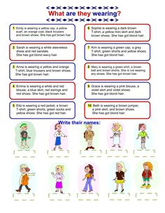 What are they wearing? - Interactive worksheet