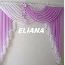 Cortina Para Cuarto, Sala, Cocina.. No Sew Curtains, Home Curtains, Curtains With Blinds, Window Curtains, Valances, Luxury Curtains, Elegant Curtains, Rideaux Design, Living Room Decor Curtains