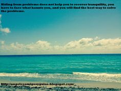 ÁNGELES AMIGOS Y GUÍAS: DAILY MESSAGE:Hiding from problems does not help y... http://angelesamigosyguias.blogspot.com/2014/04/daily-messagehiding-from-problems-does.html