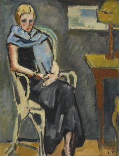 Femme a L'Écharpe Bleue 1929. Louis Valtat (1869-1952)