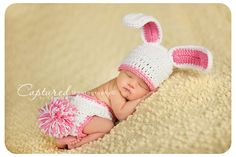 Baby Girl Bunny Hat MUST SEE Too Cute Newborn Baby Boy or Girl Crochet Bunny Hat/Diaper Cover More Colors FREE Shipping Easter Set.