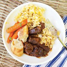 Carbonnade (Flemish Beef and Beer Stew) : beef was really tender,  made mine with guiness.
