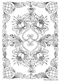 вышивка ришелье Bordado Jacobean, Jacobean Embroidery, Embroidery Works, Embroidery Motifs, Canal Boat Art, Rosemaling Pattern, Norwegian Rosemaling, Folk Art Flowers, Whole Cloth Quilts