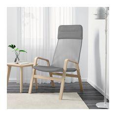 NOLBYN Sessel mit hoher Rückenlehne - Birkenfurnier/grau - IKEA