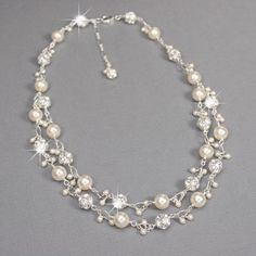 Roxy's Jewelry - Sterling Silver Double Strand Pearl