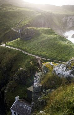 Carrick-A-Rede Robe Bridge in County Antrim, Ireland by manyfires, via Flickr