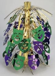 Mardi Gras Mask Shower Centerpiece