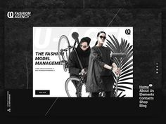 U-AGENCY  FASHION AGENCY by Kozyon  #Design Popular #Dribbble #shots