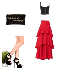 """""""Sin título #273"""" by jocelin-cra on Polyvore featuring moda, MDS Stripes y Charlotte Olympia"""