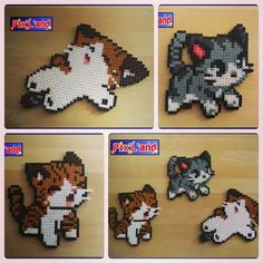(2) Chibi cats hama perler beads by pixland | CATS | Pinterest