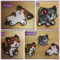 (2) Chibi cats hama perler beads by pixland   CATS   Pinterest