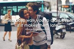 With boys walk you to class even though it makes them late things boys do we love   Tumblr