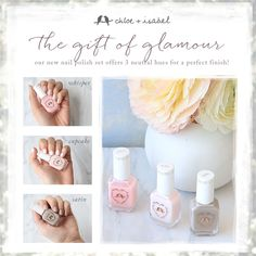 All new nail polish by Chloe and Isabel. Soft pastel colors
