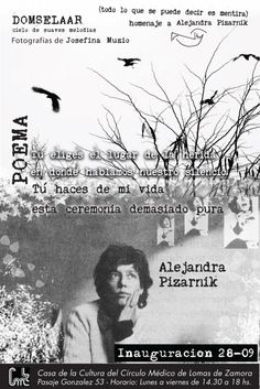 Muestra homenaje a Alejandra Pizarnik