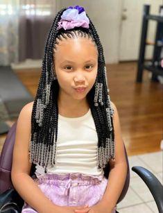 Little Girl Braid Styles, Little Girl Braids, Kid Braid Styles, Black Girl Braids, Braids For Black Hair, Little Girls, Black Kids Braids Hairstyles, Lil Girl Hairstyles, Braids Hairstyles Pictures
