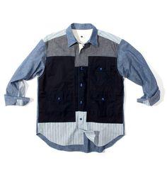CDG Ganryu Mixed Fabric Pockets Shirt
